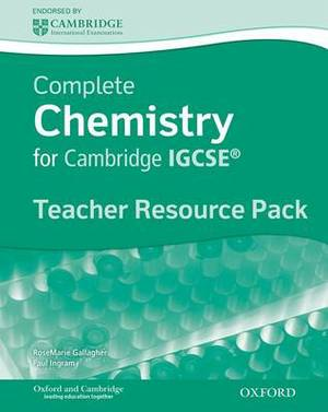 Complete Chemistry for Cambridge IGCSE: Teacher's Resource Pack