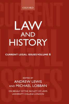 Law and History: 2003: volume 6