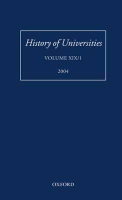 History of Universities: Volume XIX/1