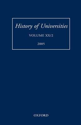 History of Universities: Volume XX/2 2005