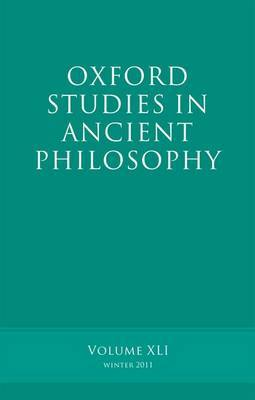 Oxford Studies in Ancient Philosophy: v. 41