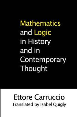 Mathematics and Logic in History and in Contemporary Thought