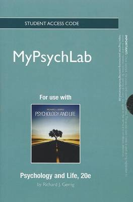 New MyPsychLab Without Pearson eText - Standalone Access Card - For Psychology and Life
