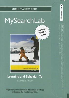 MySearchLab with Pearson Etext - Standalone Access Card - for Learning and Behavior