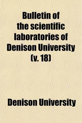 Bulletin of the Scientific Laboratories of Denison University