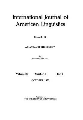 Manual of Phonology