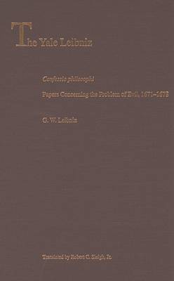 Confessio Philosophi: Papers Concerning the Problem of Evil, 1671-1678