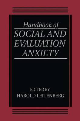 Handbook of Social and Evaluation Anxiety