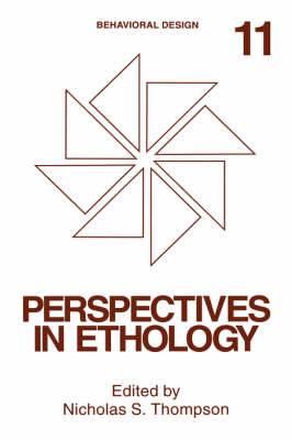 Perspectives in Ethology: Volume 11: Perspectives in Ethology Behavioral Design