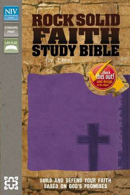 Rock Solid Faith Study Bible for Teens, NIV: Build and Defend Your Faith Based on God's Promises