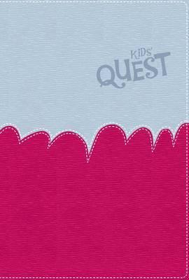 NIRV Kid's Quest Study Bible Light Blue/Hot Pink