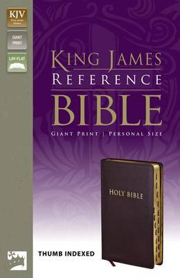 KJV, Reference Bible, Giant Print, Personal Size, Bonded Leather, Burgundy, Indexed, Red Letter Edition