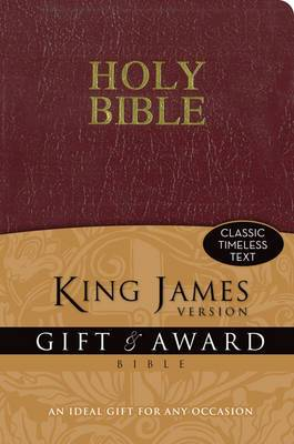 KJV, Gift and Award Bible, Imitation Leather, Burgundy, Red Letter Edition