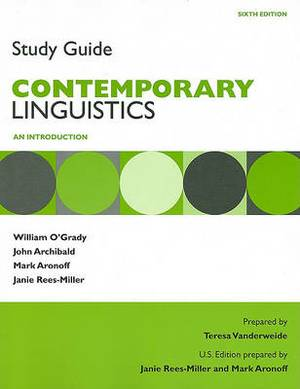 Study Guide for Contemporary Linguistics: An Introduction