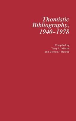 Thomistic Bibliography, 1940-1978
