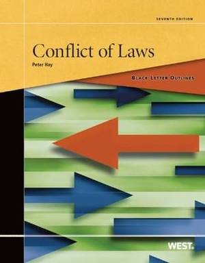 Black Letter Outline on Conflict of Laws,
