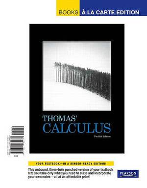 Thomas' Calculus, Books a la Carte Edition