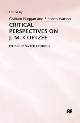 Critical Perspectives on J.M. Coetzee: 1996