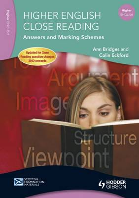 Higher English Close Reading Answers and Marking Schemes