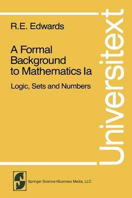 A Formal Background to Mathematics: Logic, Sets and Numbers