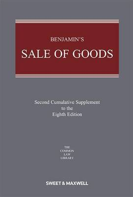 Benjamin'S Sale of Goods: 2nd Supplement