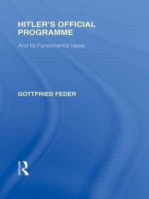 Hitler's Official Programme RLE Responding to Fascism