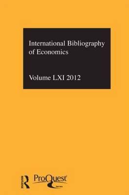 IBSS: Economics: 2012 Vol.61: International Bibliography of the Social Sciences