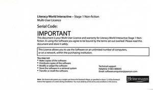 Literacy World Interactive Stage 1 Non-Fiction Multi User Pack Version 2 Framework