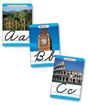 Around the World Cursive Alphabet Set: 26 Ready-To-Display Letter Cards with Fabulous Photos of Extraordinary Natural Wonders, Ancient Sites, Architecture, and More