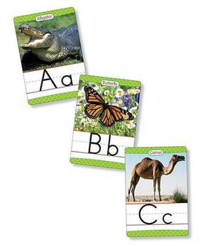 Animals from A to Z Alphabet Set: Manuscript: 26 Ready-To-Display Letter Cards with Fabulous Photos of Animals