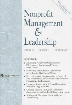 Nonprofit Management & Leadership, Volume 18, Number 4
