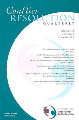 Conflict Resolution Quarterly