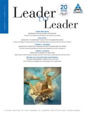 Leader to Leader (LTL): Summer 2010: v. 57