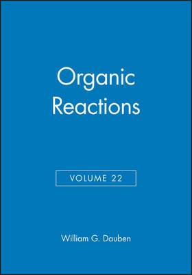 Organic Reactions, Volume 22
