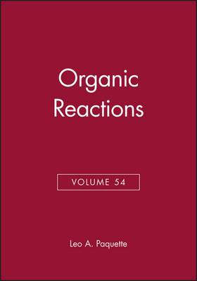 Organic Reactions, Volume 54