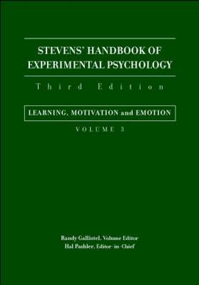 Stevens' Handbook of Experimental Psychology: v.3: Learning, Motivation and Emotion