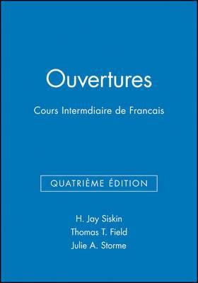 Ouvertures: Cours Intermediaire De Francais: Workbook/Lab Manual