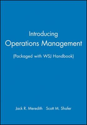 Webct to Accompany Operations Management Wsj Handbook Package