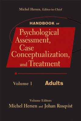 Handbook of Psychological Assessment, Case Conceptualization, and Treatment: v. 1: Adults