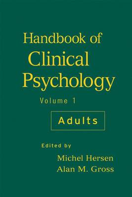Handbook of Clinical Psychology: v. 1: Adults