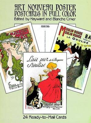 Art Nouveau Poster Postcards in Full Colour: 24 Ready-to-Mail Cards