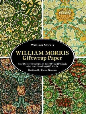 William Morris Giftwrap Paper: 4 Different Designs on Four 18 X24  Sheets With Four Matching Gift Cards