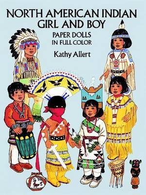 North American Indian Girl and Boy Paper Dolls in Full Colour