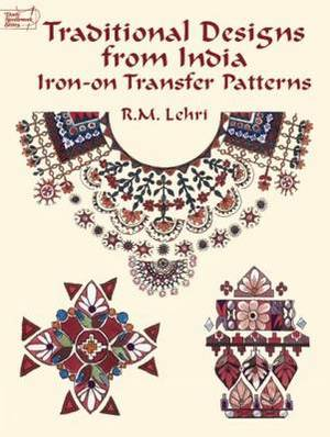 Traditional Designs from India: Iron-on Transfer Patterns