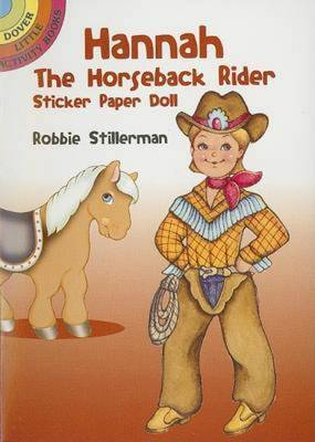 Hannah the Horseback Rider Sticker Paper Doll