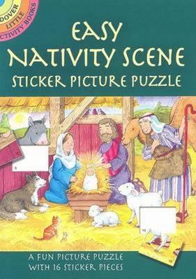 Easy Nativity Scene Sticker Picture Puzzle