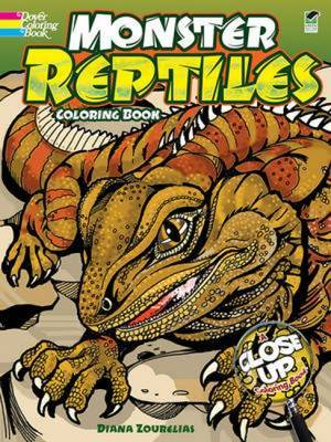 Monster Reptiles Coloring Book: A Close-Up Coloring Book