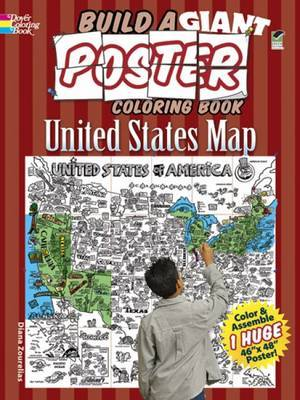 Build a Giant Poster Coloring Book - United States Map