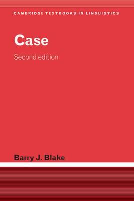 Cambridge Textbooks in Linguistics: Case