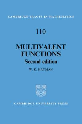 Multivalent Functions